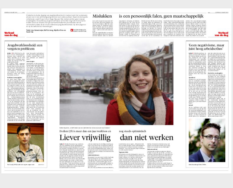 Myrthe Prins freelance journalist leidsch dagblad